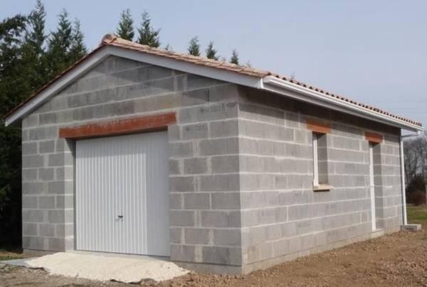 construction de garage prix