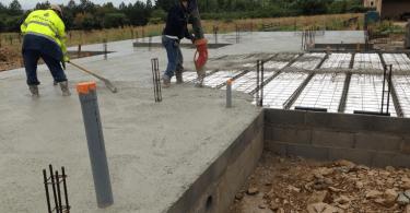 Réalisation dalle béton de 20 m2
