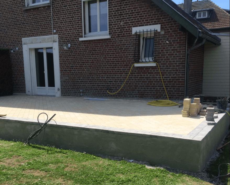 construction terrasse surélevée en béton