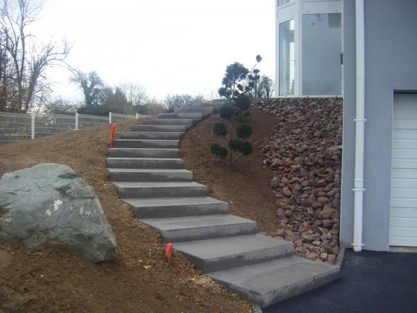 terrasse en beton decoratif